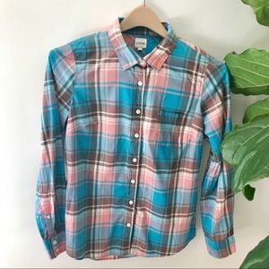 J.Crew The Perfect Shirt In Plaid! NWOT!